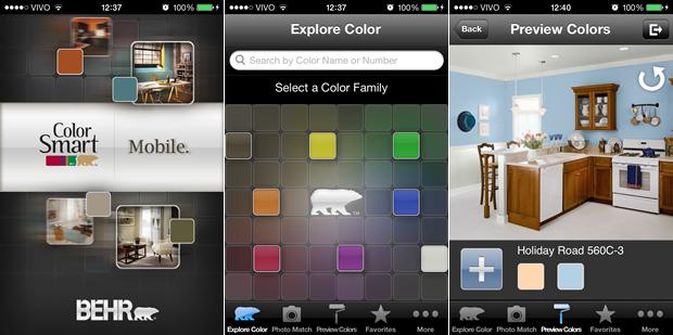 5 aplicativos para te ajudar na escolha das cores das - App para disenar casas ...